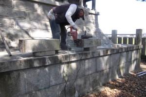 1神社玉垣修復写真